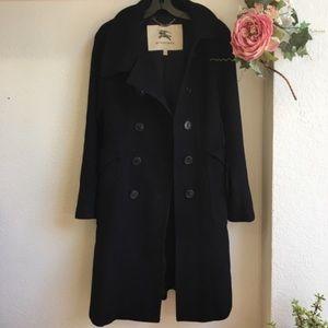 Authentic Burberry black wool coat sz 6